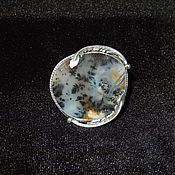Украшения handmade. Livemaster - original item A silver ring with moss agate