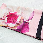 Аксессуары handmade. Livemaster - original item Coral silk scarf from Valentino fabric