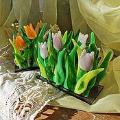 Салфетницы ручной работы. Ярмарка Мастеров - ручная работа Салфетница Тюльпаны. Handmade.