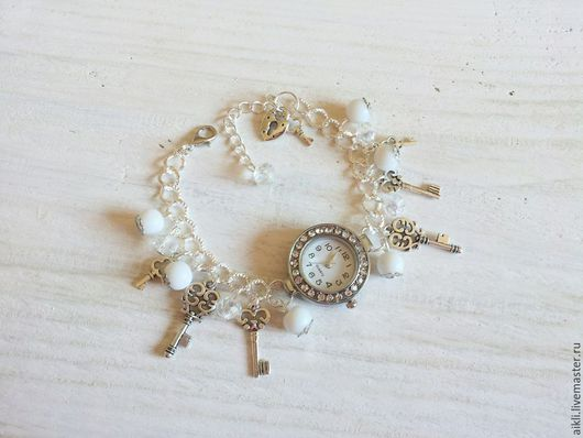 """Часы ручной работы. Ярмарка Мастеров - ручная работа. Купить Часы """"Ключик от счастья"""". Handmade. Серебряный, часы наручные"""