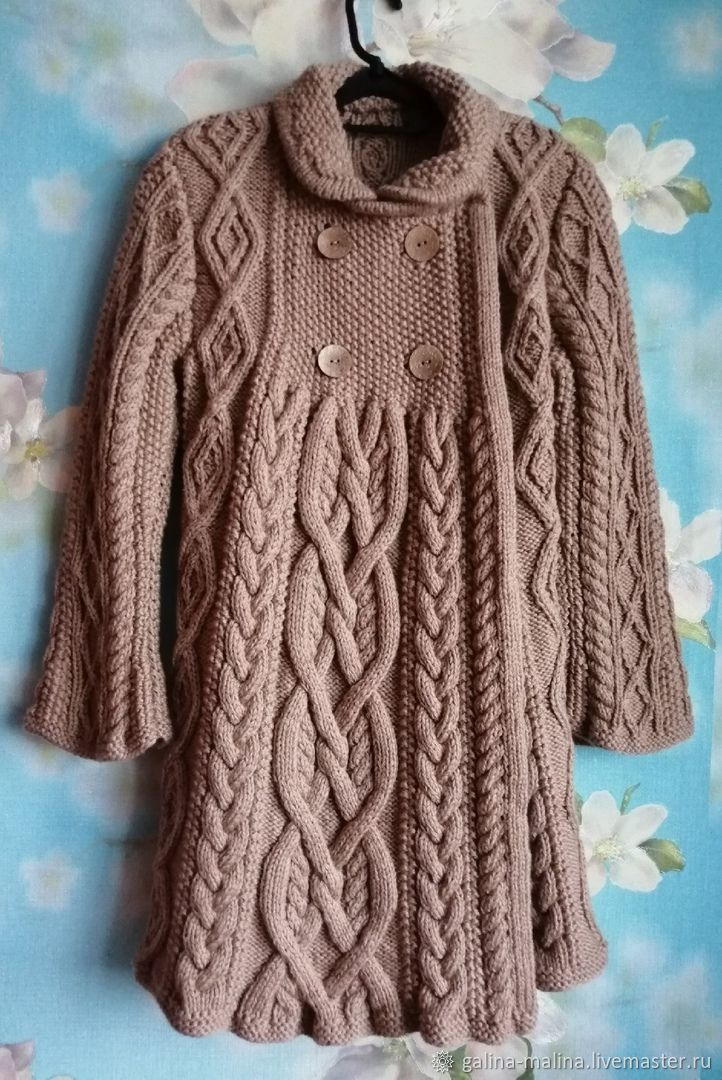 Пальто вязаное по мотивам «Элизабет»  Ральфа Лорена