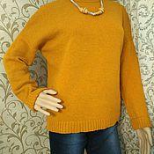 Одежда ручной работы. Ярмарка Мастеров - ручная работа Рыжий свитер. Handmade.