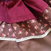 """Одежда ручной работы. Ярмарка Мастеров - ручная работа Вельветовая юбка """"Винные розы"""". Handmade."""