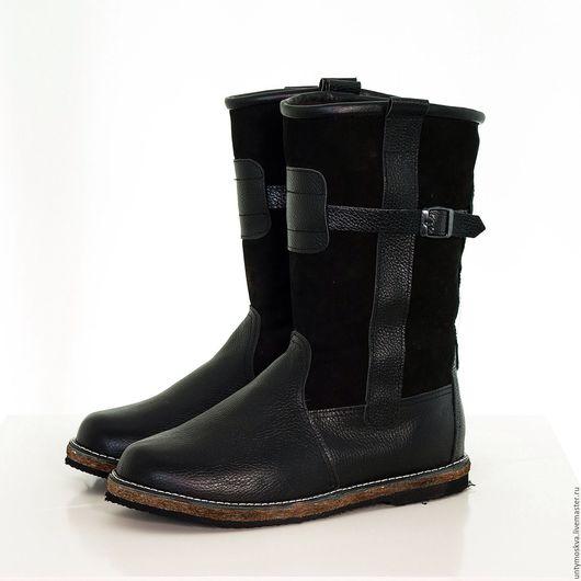Обувь ручной работы. Ярмарка Мастеров - ручная работа. Купить Монголки мужские. (черные) мм8. Handmade. Черный, натуральная кожа