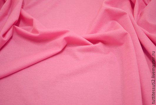 Шитье ручной работы. Ярмарка Мастеров - ручная работа. Купить Трикотаж 03-001-0385. Handmade. Розовый, эластан, топы