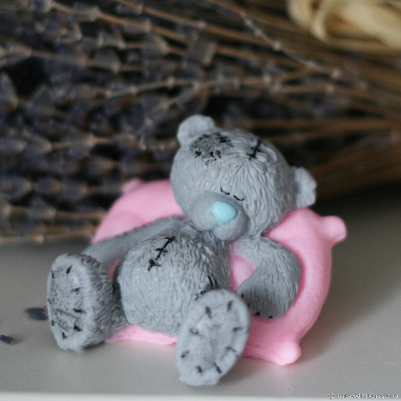 Мишка на подушке из мыла, Мыло, Москва,  Фото №1