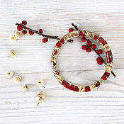 Украшения handmade. Livemaster - original item Transparent bracelet Flowers and berries. Handmade.