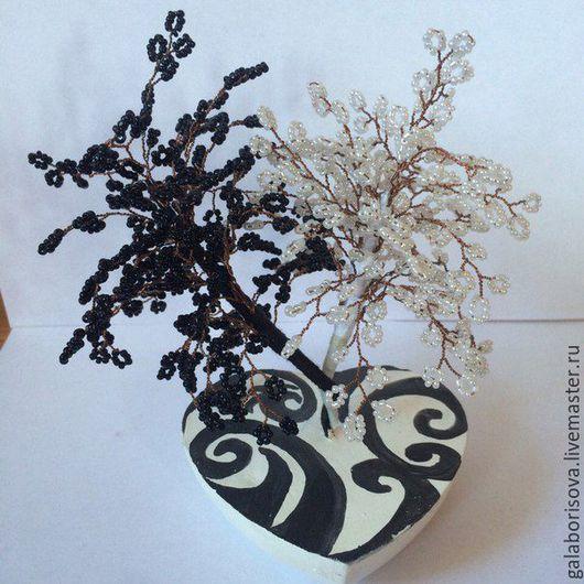 Деревья ручной работы. Ярмарка Мастеров - ручная работа. Купить Продам деревья из бисера. Handmade. Комбинированный, бисерные деревья