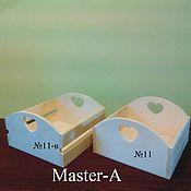 Материалы для творчества ручной работы. Ярмарка Мастеров - ручная работа Ящик реечный №11 (2-20х20) - заготовка для декупажа. Handmade.