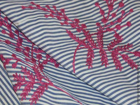 Шитье ручной работы. Ярмарка Мастеров - ручная работа. Купить D&G хлопок с вышивкой, Италия. Handmade. Итальянские ткани, комбинированный