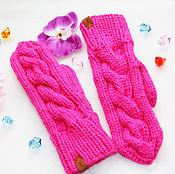Аксессуары handmade. Livemaster - original item Knitted mittens women`s