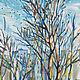 Картина весна масло Весенний пейзаж маслом в подарок Весна пейзаж в подарок Картина город Москва