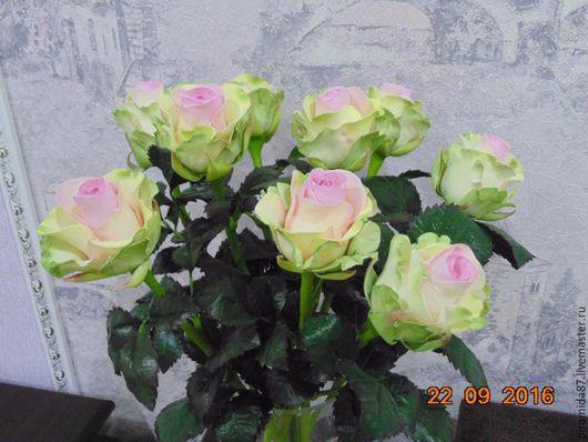 Интерьерные композиции ручной работы. Ярмарка Мастеров - ручная работа. Купить Цветы. Handmade. Розы из фоамирана, интерьерная композиция