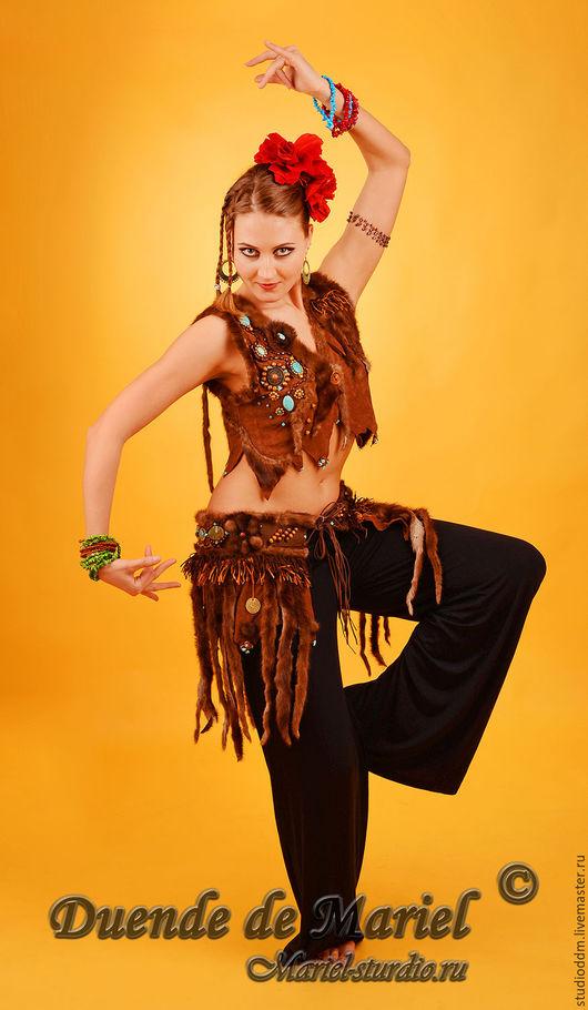 Костюм для танца tribal `Волчица`. В таком костюме наша клиентка стала Богиней праздничного вечера!