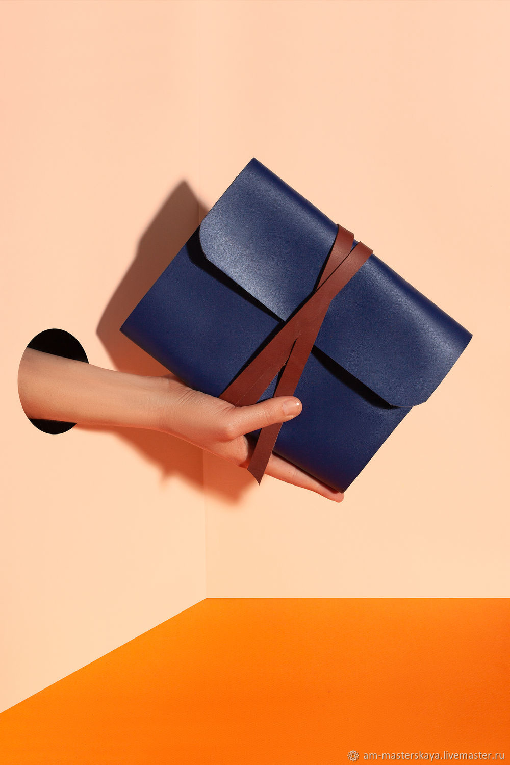 Leather notebook with rings, Notebooks, St. Petersburg,  Фото №1