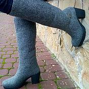 """Обувь ручной работы. Ярмарка Мастеров - ручная работа Сапожки-валенки  """"Оттенки серого"""". Handmade."""