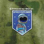 Материалы для творчества handmade. Livemaster - original item SPACE EXPLORER patch. Handmade.