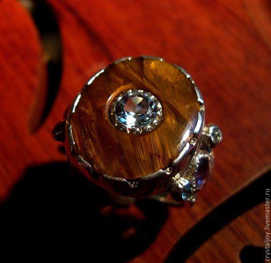 """Кольца ручной работы. Ярмарка Мастеров - ручная работа. Купить """"Золотая середина"""". Handmade. Топаз, серебро, подарок"""