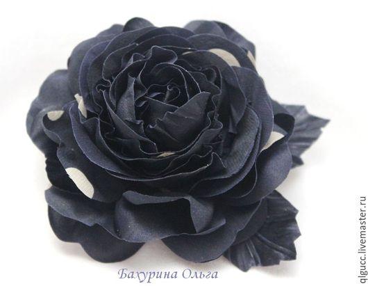 Броши ручной работы. Ярмарка Мастеров - ручная работа. Купить Роза Николь. Handmade. Комбинированный, роза из шелка, бульки, пвс