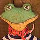 Ароматизированные куклы ручной работы. Ярмарка Мастеров - ручная работа. Купить Лягушонок морячок. Handmade. Разноцветный, интерьерная игрушка
