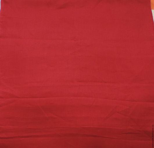 Шитье ручной работы. Ярмарка Мастеров - ручная работа. Купить Лен ткань красный натуральный. Handmade. Лен, лен ткань