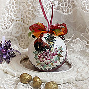 Подарки к праздникам handmade. Livemaster - original item Christmas ball with a symbol of year