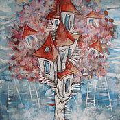 Картины и панно ручной работы. Ярмарка Мастеров - ручная работа Дом на дереве:). Handmade.