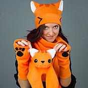 Аксессуары ручной работы. Ярмарка Мастеров - ручная работа Шарфик Рыжий кот. Handmade.