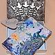 Обложки ручной работы. Ярмарка Мастеров - ручная работа. Купить Обложка кожаная по мотивам работы ДВА ПАВЛИНА. Handmade. Разноцветный