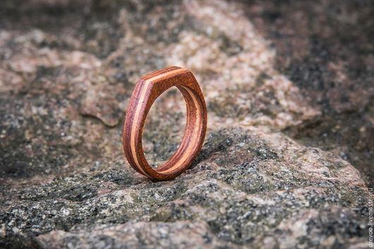 Кольца ручной работы. Ярмарка Мастеров - ручная работа. Купить кольцо из дерева. Handmade. Коричневый, кольцо ручной работы, этимое