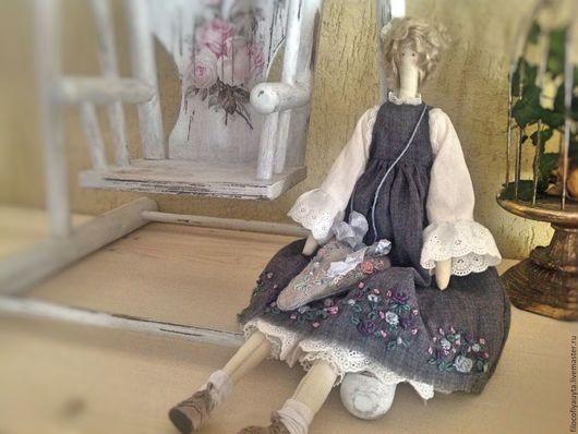 Куклы Тильды ручной работы. Ярмарка Мастеров - ручная работа. Купить Стефани. Handmade. Тёмно-синий, хлопок
