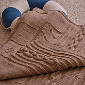 """Для дома и интерьера ручной работы. Ярмарка Мастеров - ручная работа Плед """"Опять про море!"""" вязаный спицами морская тематика. Handmade."""