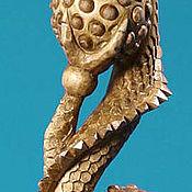 """Для дома и интерьера ручной работы. Ярмарка Мастеров - ручная работа Скульптура """"Дракон сшарами"""". Handmade."""