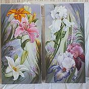 """Картины и панно ручной работы. Ярмарка Мастеров - ручная работа """" Весенний диптих"""". Handmade."""