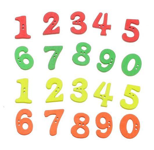 Шитье ручной работы. Ярмарка Мастеров - ручная работа. Купить Пуговицы деревянные цифры, 10 шт.. Handmade. Пуговицы, дерево