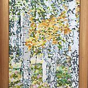 Картины и панно ручной работы. Ярмарка Мастеров - ручная работа Картина Березовый Лес. Handmade.