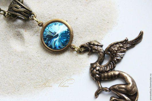 """Кулоны, подвески ручной работы. Ярмарка Мастеров - ручная работа. Купить Кулон """"Озеро дракона"""". Handmade. Голубой, дракон, дракоша"""