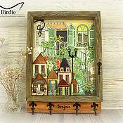 Для дома и интерьера handmade. Livemaster - original item Wall-mounted housekeepers:3d painting