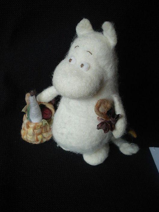 Коллекционные куклы ручной работы. Ярмарка Мастеров - ручная работа. Купить Муми-троль. Handmade. Шерсть