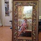 Для дома и интерьера handmade. Livemaster - original item Mirror Moriss Painted ceramics. Handmade.