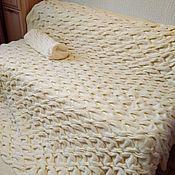 Для дома и интерьера handmade. Livemaster - original item Plaid knitted big blanket blanket Large braids handmade. Handmade.
