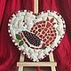 `Гранат` Мозаика из керамики и бусин.Размеры 26/24 см.Возможно повесить на стену или установить на подставку.