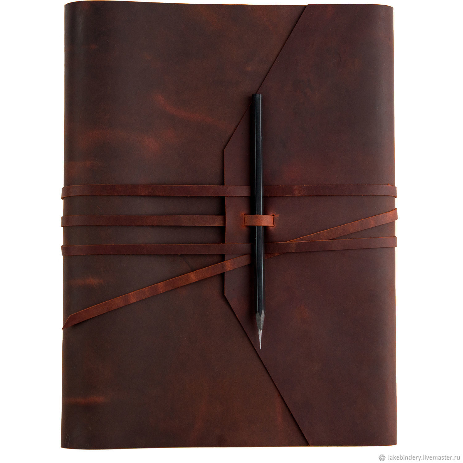 A4 notebook on rings made of genuine leather Crazy Horse, Notebooks, Moscow,  Фото №1