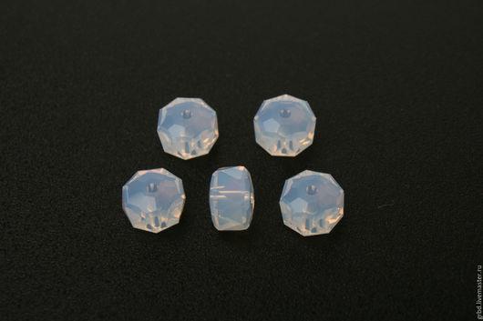 Для украшений ручной работы. Ярмарка Мастеров - ручная работа. Купить Rondelle Bead White opal. Handmade. Бусины