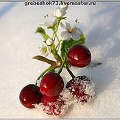 Цветы и флористика ручной работы. Ярмарка Мастеров - ручная работа Зимняя вишня. Handmade.