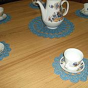 """Для дома и интерьера ручной работы. Ярмарка Мастеров - ручная работа комплект салфеток для чаепития """"Гжель"""". Handmade."""