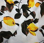 Материалы для творчества ручной работы. Ярмарка Мастеров - ручная работа Штапель с лимонами. Handmade.