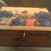 """Для дома и интерьера ручной работы. Ярмарка Мастеров - ручная работа шкатулка""""Лаванда"""". Handmade."""