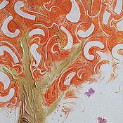 Картины и панно ручной работы. Ярмарка Мастеров - ручная работа Оранжевое дерево. Handmade.