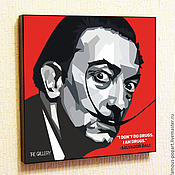 Картины и панно handmade. Livemaster - original item Painting poster Salvador Dali in the style of Pop Art. Handmade.